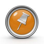 Safety pin circular icon on white background — Stock Photo