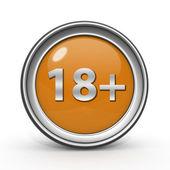 18 circular icon on white background — Stock Photo