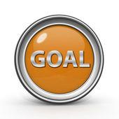 Ícone circular objetivo sobre fundo branco — Fotografia Stock