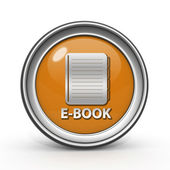 E-book circular icon on white background — 图库照片