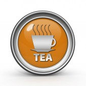 Tea circular icon on white background — Stock Photo