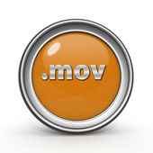 .mov circular icon on white background — Stock Photo