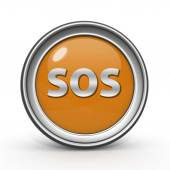 Символ проспекта Sos на белом фоне — Стоковое фото
