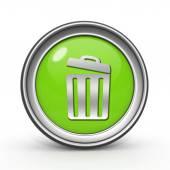 Prullenbak kunt circulaire pictogram op witte achtergrond — Stockfoto
