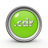 .cdr circular icon on white background — Stock Photo