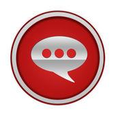 Forum circular icon on white background — Stock Photo