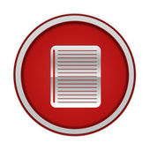 Notebook circular icon on white background — Photo