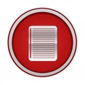 круглый значок ноутбук на белом фоне — Стоковое фото