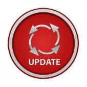Update circular icon on white background — Stock Photo