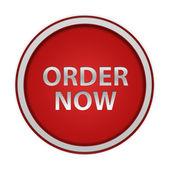 Order now circular icon on white background — Photo
