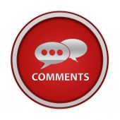 Comments now circular icon on white background — Photo