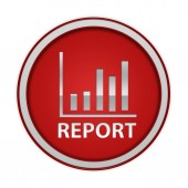 Report circular icon on white background — Photo
