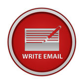 Icône circulaire d'email sur fond blanc — Photo