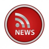 News circular icon on white background — Stock Photo