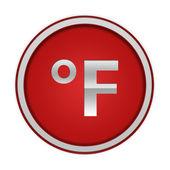 Fahrenheit circular icon on white background — Stock Photo