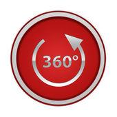 360 градусов круглый значок на белом фоне — Стоковое фото