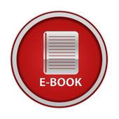 E-book circular icon on white background — Photo