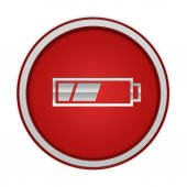 Battery circular icon on white background — Stock Photo