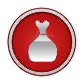 Money bag circular icon on white background — Stock Photo