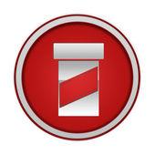Pill circular icon on white background — Stock fotografie