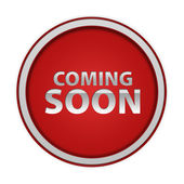 Coming soon circular icon on white background — Stock Photo