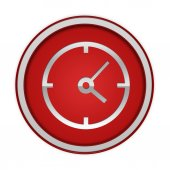 Clock circular icon on white background — Foto de Stock