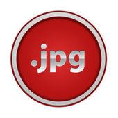 .jpg circular icon on white background — Stok fotoğraf