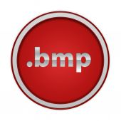.bmp circular icon on white background — Стоковое фото