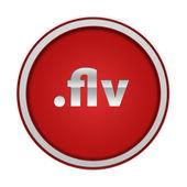 .flv circular icon on white background — Stock Photo