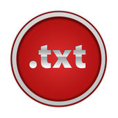 .txt circular icon on white background — Stock Photo