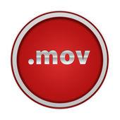 .mov circular icon on white background — Stock Photo