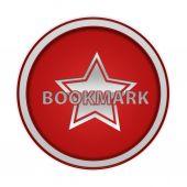 Bookmark circular icon on white background — ストック写真