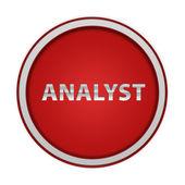 Analyst circular icon on white background — Stock Photo
