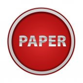 Paper circular icon on white background — 图库照片