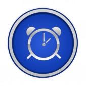 Alarm circular icon on white background — Stock Photo
