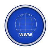 Www ícone circular sobre fundo branco — Fotografia Stock