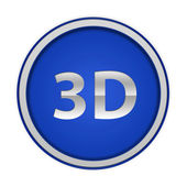 3d circular icon on white background — Stock Photo