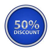Discount 50 circular icon on white background — Stock Photo