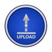 Caricare l'icona circolare su priorità bassa bianca — Foto Stock