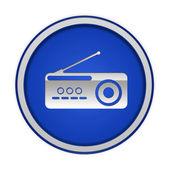 Radio circular icon on white background — Stock Photo