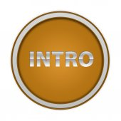 Intro circular icon on white background — Stock Photo