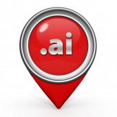 .ai pointer icon on white background — Stock Photo