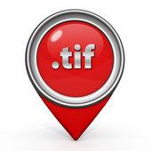.tif pointer icon on white background — Stock Photo