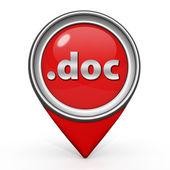 .doc pointer icon on white background — Stock Photo