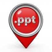 .ppt pointer icon on white background — Stock Photo