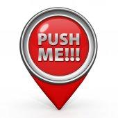 Push me pointer icon on white background — Стоковое фото