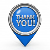 Thank you pointer icon on white background — Stock Photo