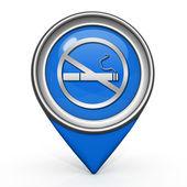 Cigarette pointer icon on white background — Foto de Stock