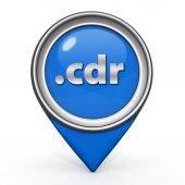 .cdr pointer icon on white background — Stockfoto