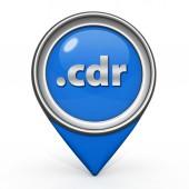 .cdr pointer icon on white background — Foto de Stock